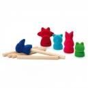 Set de petites marionnettes à doigts animaux  - ERZI