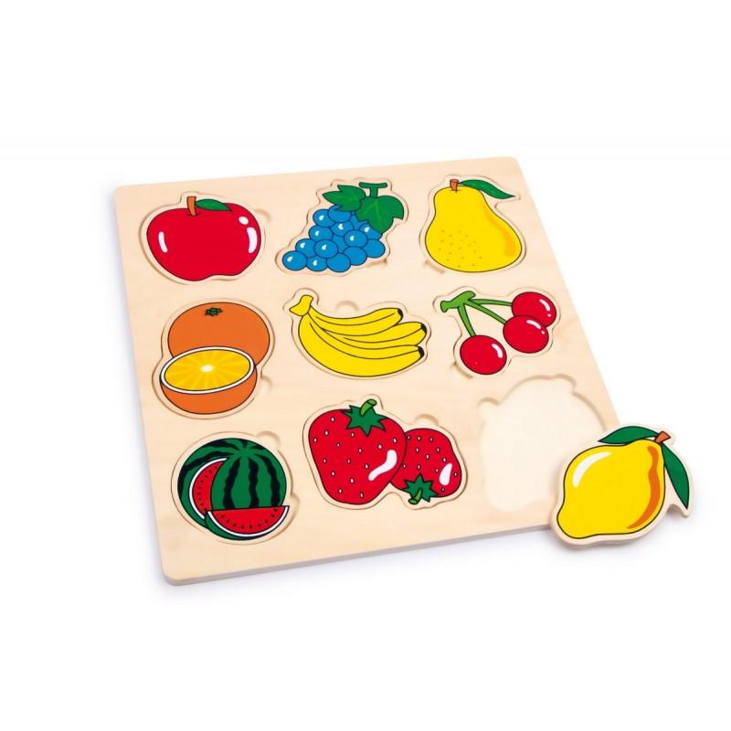 puzzle en bois fruits. Black Bedroom Furniture Sets. Home Design Ideas