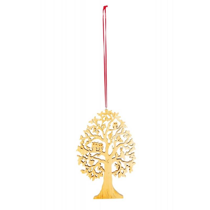 Arbre de d coration en bois avec chouettes for Arbre decoration