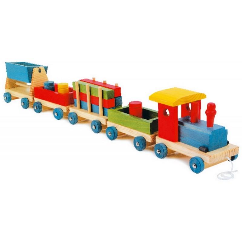 MONDE DE MINIATURES > Chemin de fer > Petit Train en Bois Emile ~ Train En Bois Enfant