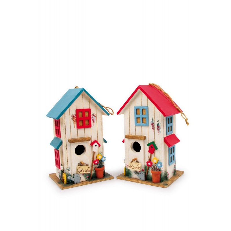 Maison pour oiseau villa des couleurs - Maison oiseau bois ...