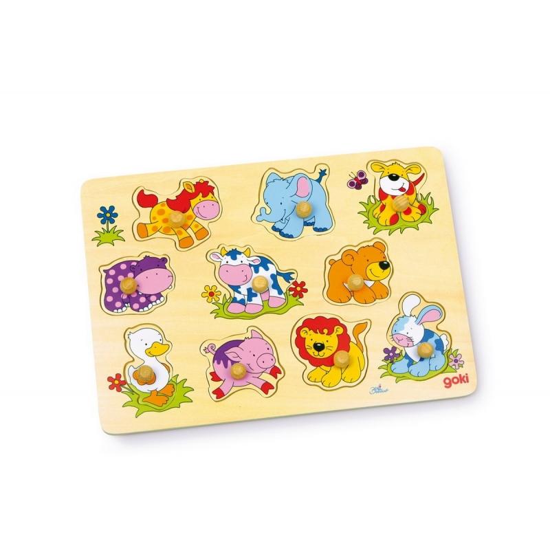 APPRENDRE > Constructions et puzzles > Puzzle en bois Jeunes animaux ~ Puzzle Animaux Bois