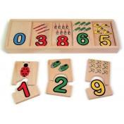 Apprentissage des chiffres en bois