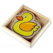 Puzzle en bois - boîte Ferme