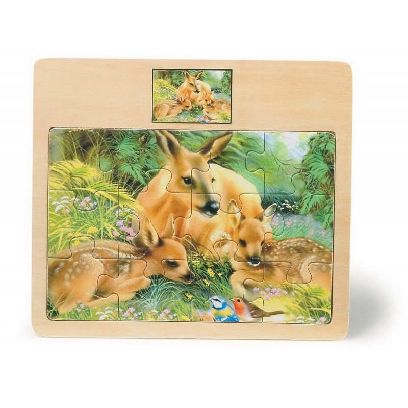 > Constructions et puzzles > Puzzle en bois Monde des animaux ~ Puzzle Animaux Bois