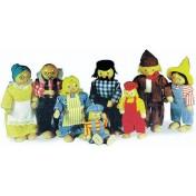 Petites poupées souples La famille paysanne