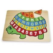 Puzzle en bois ABC Tortue