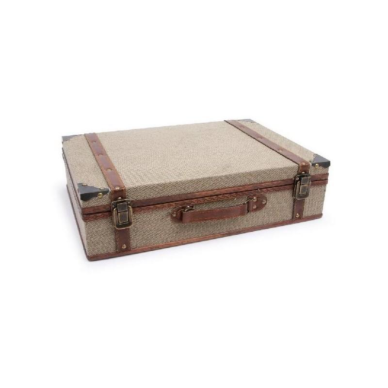 valises en bois recouvertes de tissu. Black Bedroom Furniture Sets. Home Design Ideas
