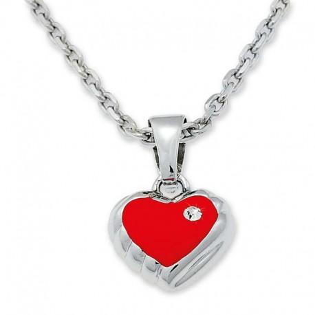 """Collier avec pendentif """"Coeur rouge"""""""