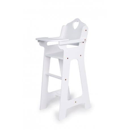 Chaise haute pour poupées,blanche
