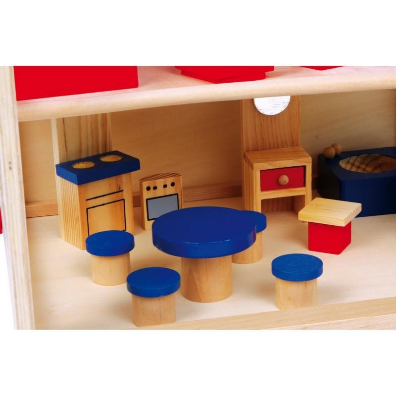 maison de poup e lilli avec accessoires. Black Bedroom Furniture Sets. Home Design Ideas