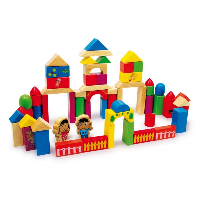 Jeu de construction en bois nico for Construction en bois details