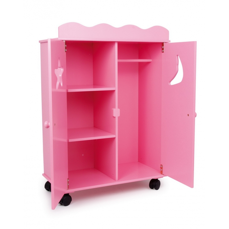 armoire de poup e rose fluo. Black Bedroom Furniture Sets. Home Design Ideas