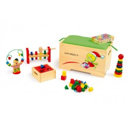 Coffre à jouets en bois