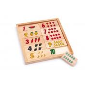 Puzzle en bois Apprendre les chiffres - fruits
