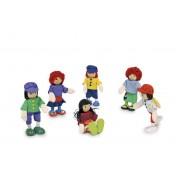 Petites poupées souples 6 amis
