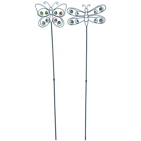 Piques métalliques Papillon