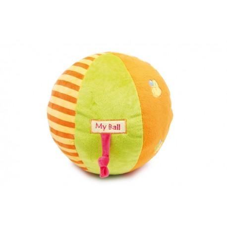Ballon en peluche bariolé