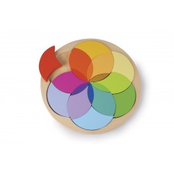 Puzzle en bois Cercle de fleurs