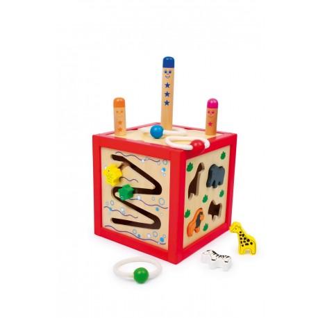 Cube actif en bois Toni