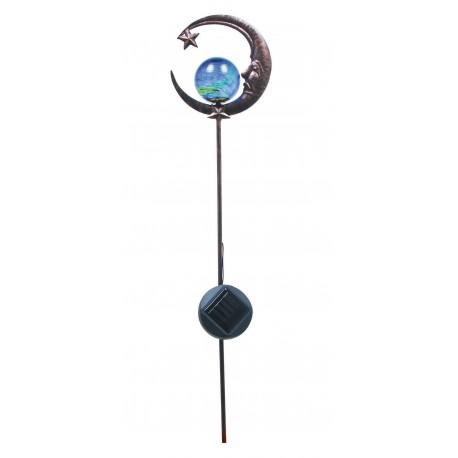 Pique métal Boule lumineuse demi-lune