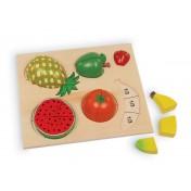 Puzzle en bois Fruits à diviser