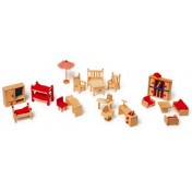 Meubles de poupées avec salon de jardin LEGLER