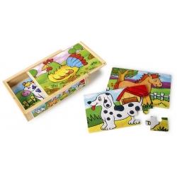 Puzzle boîte des animaux