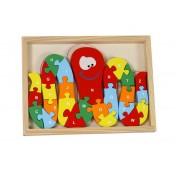 Puzzle en bois Alphabet de pieuvre