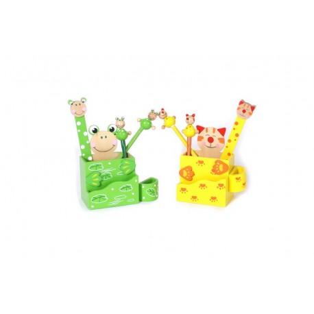 Boîtes à crayons Chat & grenouille