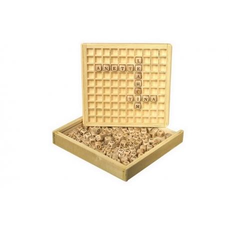 Créer des mots jeu en bois