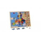 Puzzle L'Europe et ses drapeaux