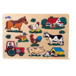 Puzzle pièces à poser La ferme