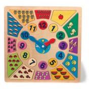 Horloge en bois pour apprendre l'heure Bigarré