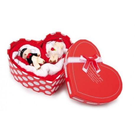 Serviettes-coeur Couple d'amour