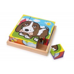 Puzzle-cubes Animaux domestiques