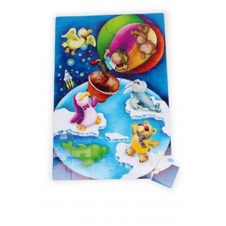 Puzzle géant Tour du monde», 48 pcs.