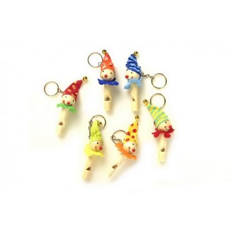 Porte-clés avec flûtes Clowns
