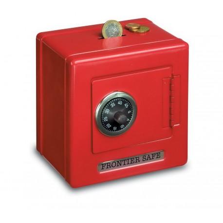 Coffre-fort en métal Rouge