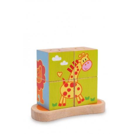 Cube à formes Animaux