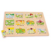 Puzzle Compter les animaux