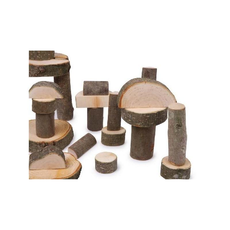 Jeu de construction bois naturel for Jeu de construction en bois 4 ans