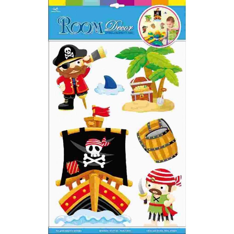 Autocollants pirates for Piraten wandtattoo kinderzimmer