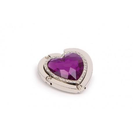 Accroche-sac à main Diamant cœur