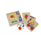 Boîte mosaïque en bois coloré