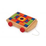 Voiture et jeu en bois de construction Lucas