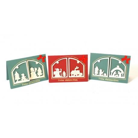 Cartes de vœux Fenêtre de Noël