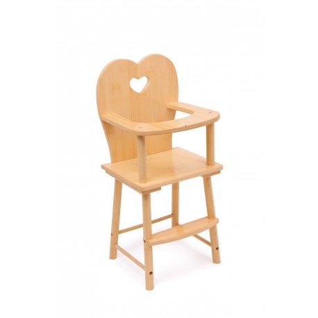 Chaise haute poupée, nature