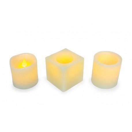 Bougies à LED en vraie cire