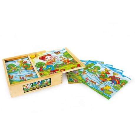 """Puzzle cubes """"Le monde de Lotte"""""""